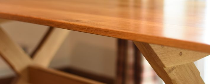 X-Frame Dining Table - Oak