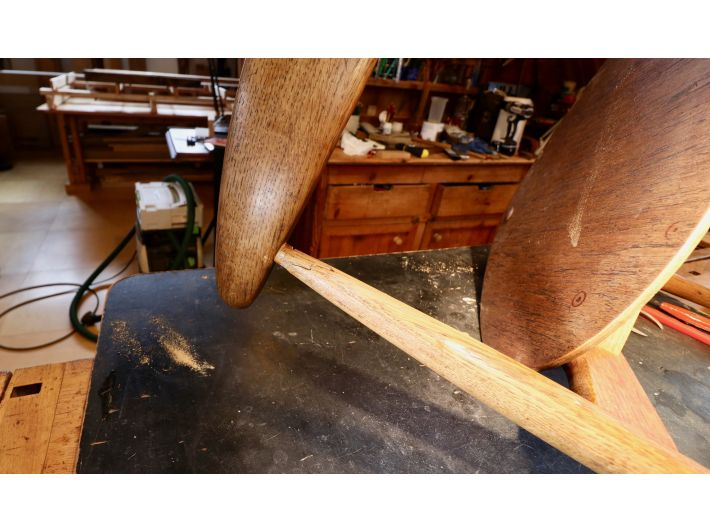 Wegner chair repair and restoration